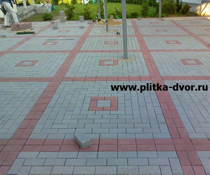 Тротуарная плитка двух цветов