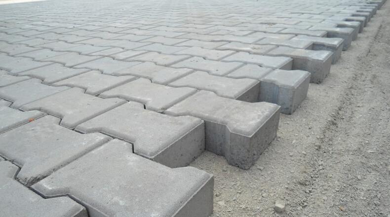тротуарная плитка 6см - укладка