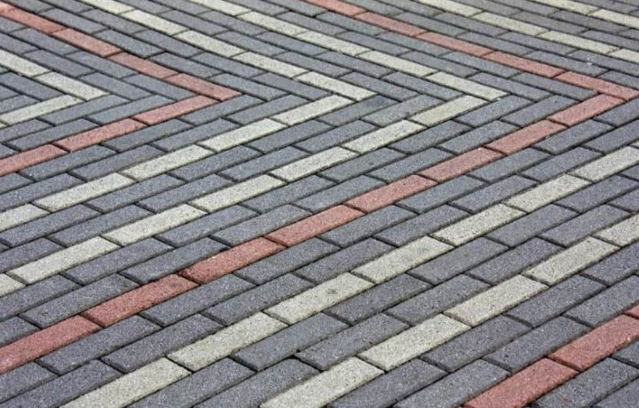 Прямоугольная тротуарная плитка ФОТО
