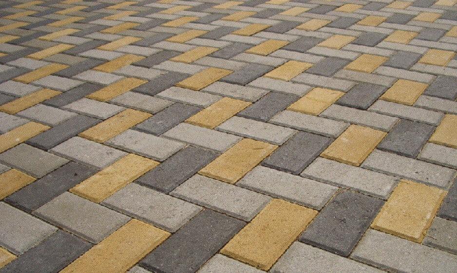 тротуарная прямоугольная плитка ФОТО