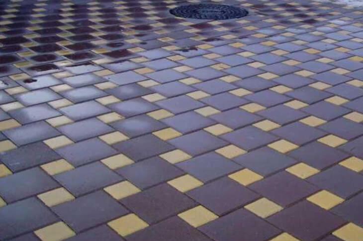 тротуарная плитка квадрат ФОТО