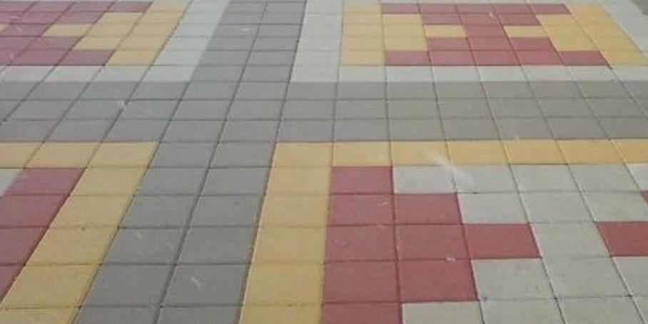 тротуарная плитка квадрат в Солнечногорске ФОТО